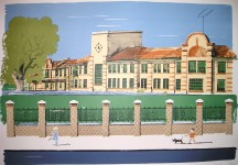 Paul Hogarth Private Edition Print of Chiswick Polish offices
